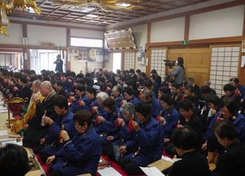 東日本大震災三回忌慰霊並びに復興祈願法要